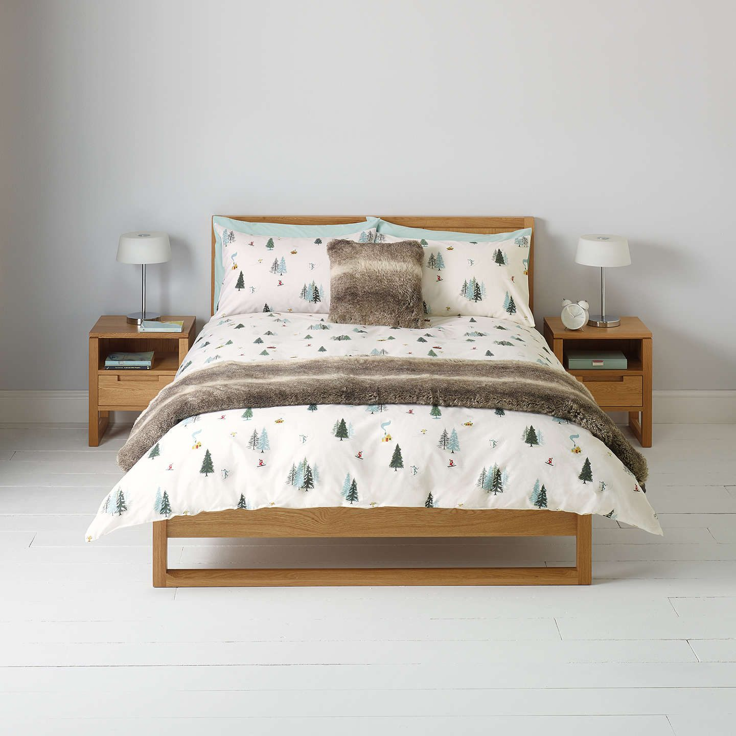 Best Christmas bedding - ski scene from John Lewis