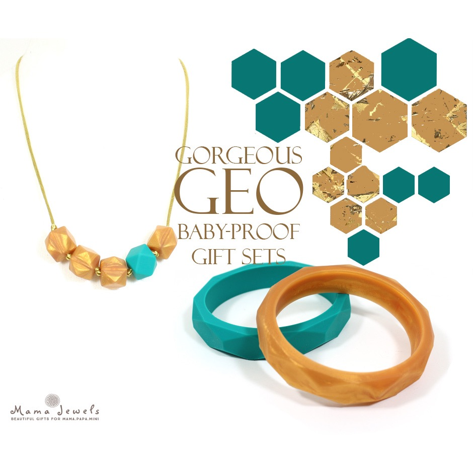 Mama Jewels GEO teething necklace and bangle set - review and giveaway