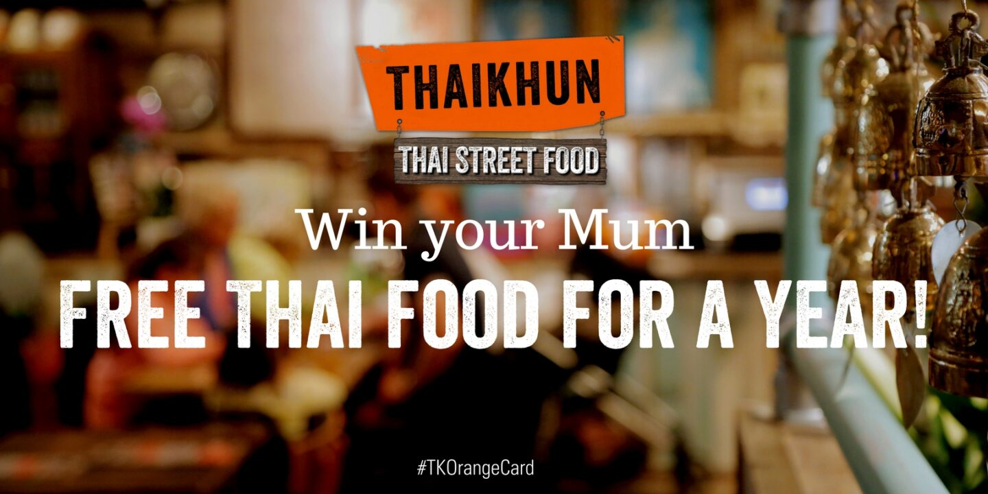 Win a meal for 5 or Thai food for a year with Thaikhun