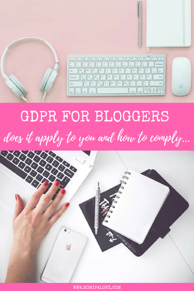 GDPR for bloggers - does it apply to you and how to comply
