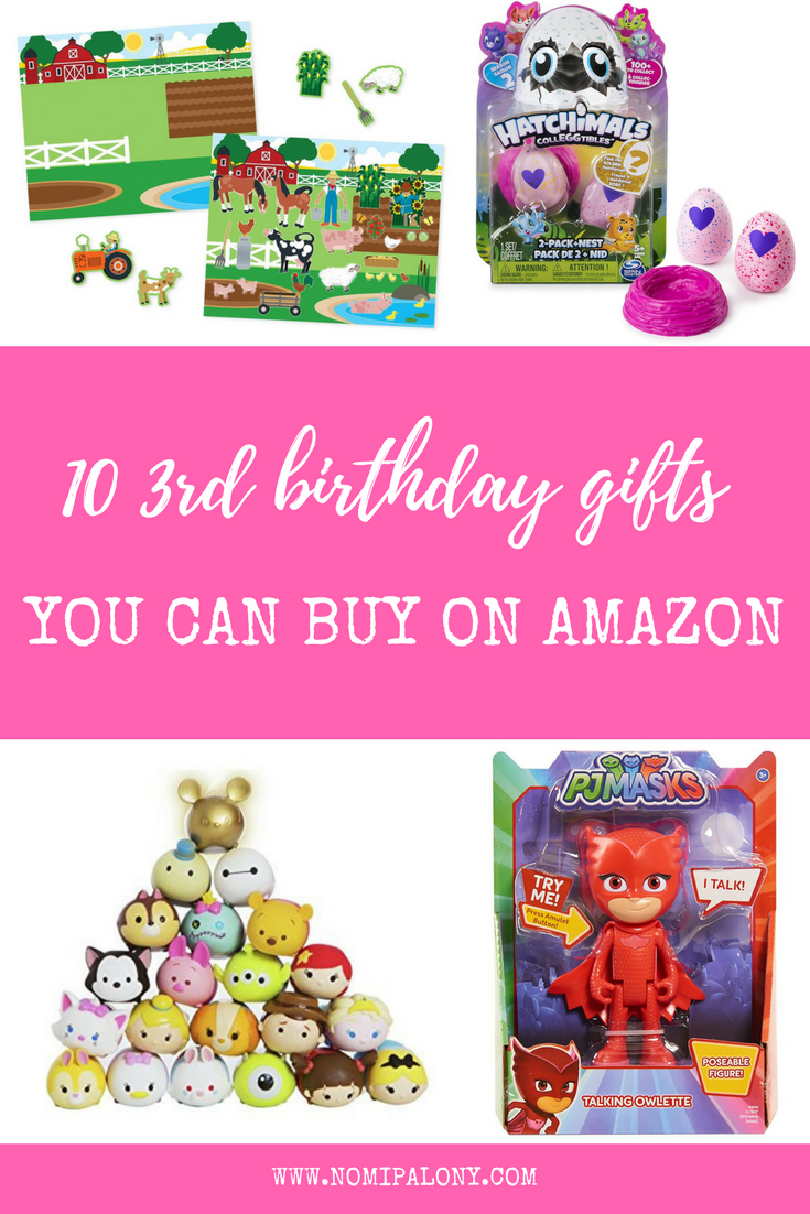 My daughter's 3rd birthday gift list. 10 gifts you can buy from Amazon for a child's third birthday.