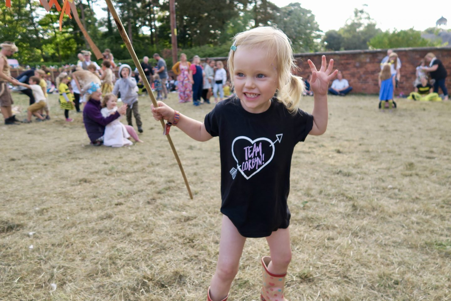 Just So Festival 2018 review and our top tips for Just So Festival - 3 year old being fierce