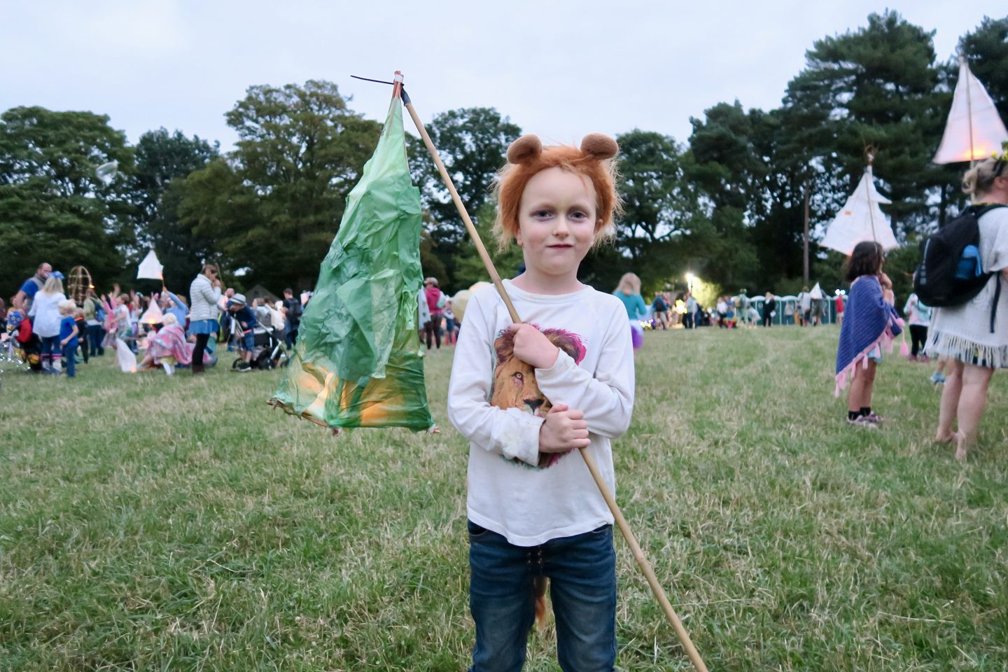 Just So Festival 2018 review and our top tips for Just So Festival - 6 year old with green lantern