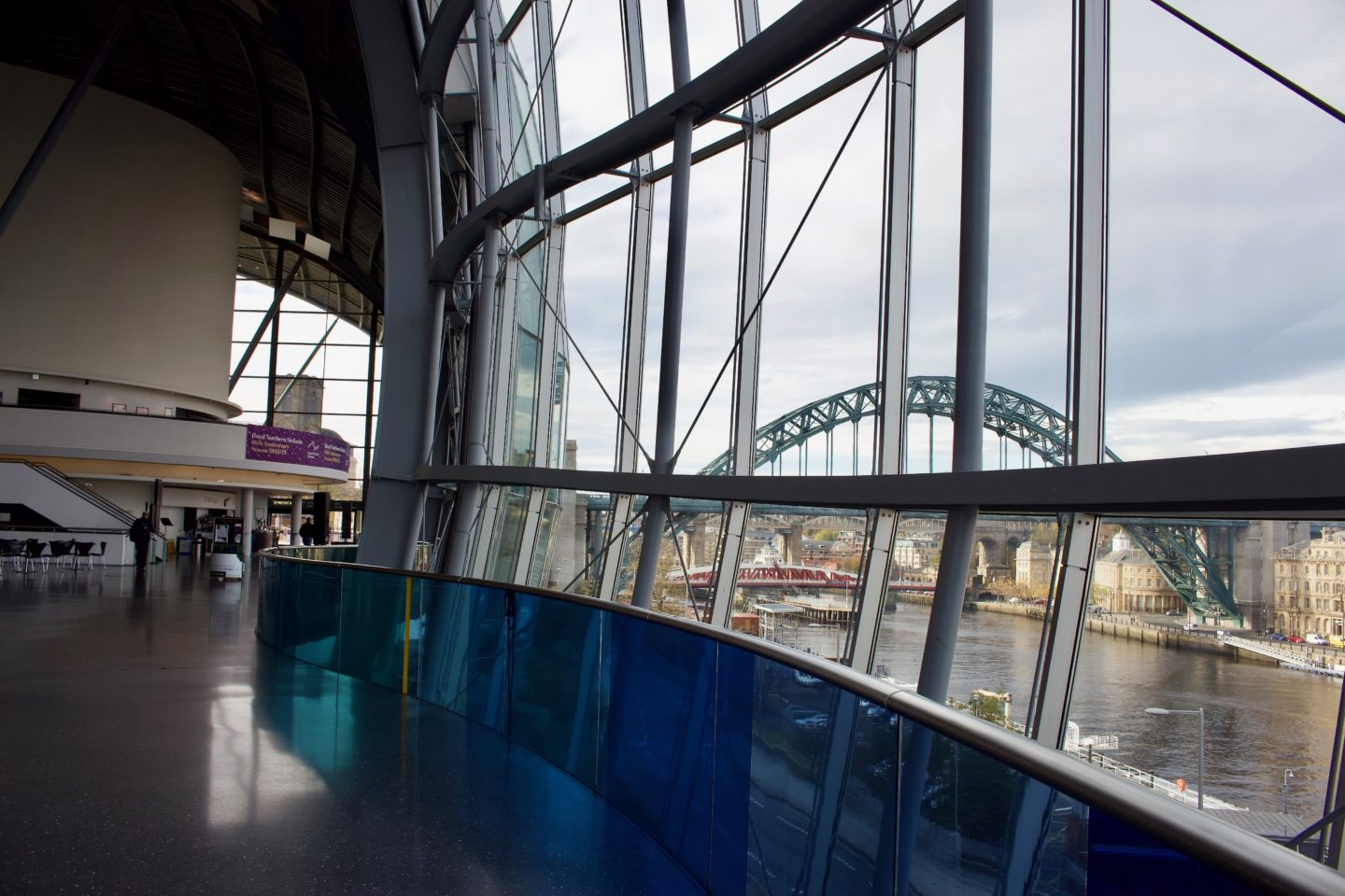 Inside Sage Gateshead with a view of the Tyne Bridge. Sage Gateshead Music Live Under Five: Mini Musicians review