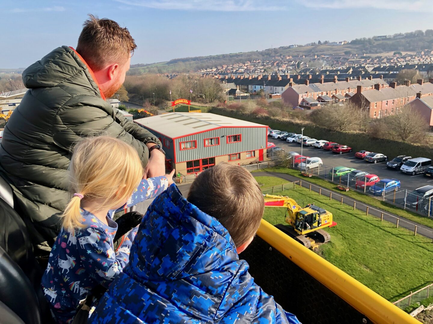 Diggerland Durham review - view from the tallest ride