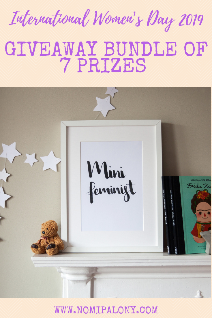 International Women's Day 2019 Giveaway bundle of 7 prizes from female led businesses