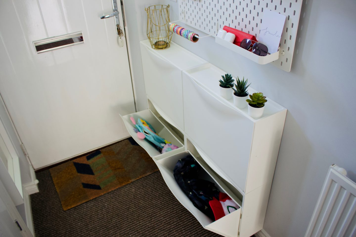 AD: Getting organised for back to school with an IKEA hallway makeover