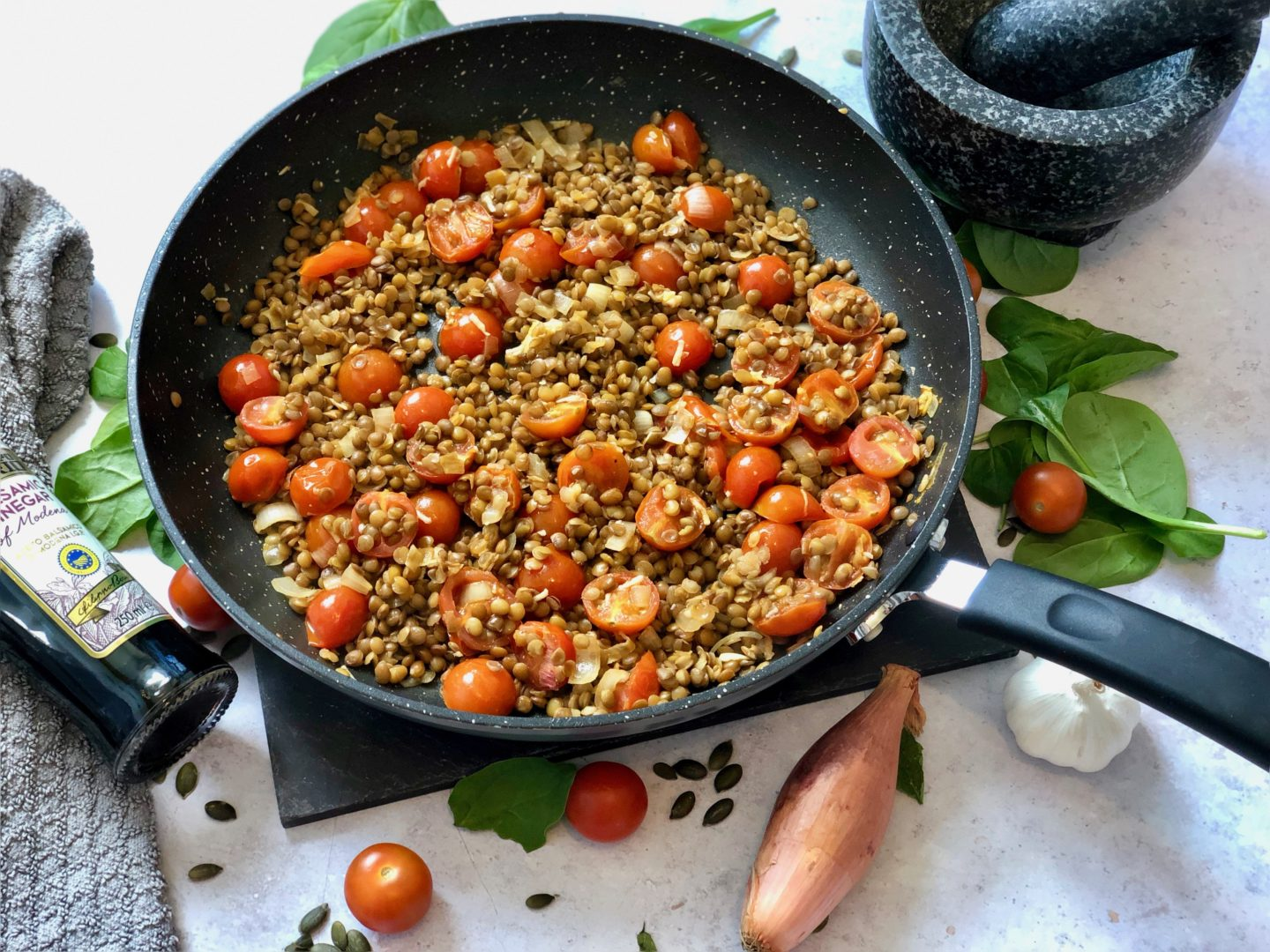 AD: Pan fried halloumi with caramelised red onion and lentils recipe plus £10 off at Hello Fresh