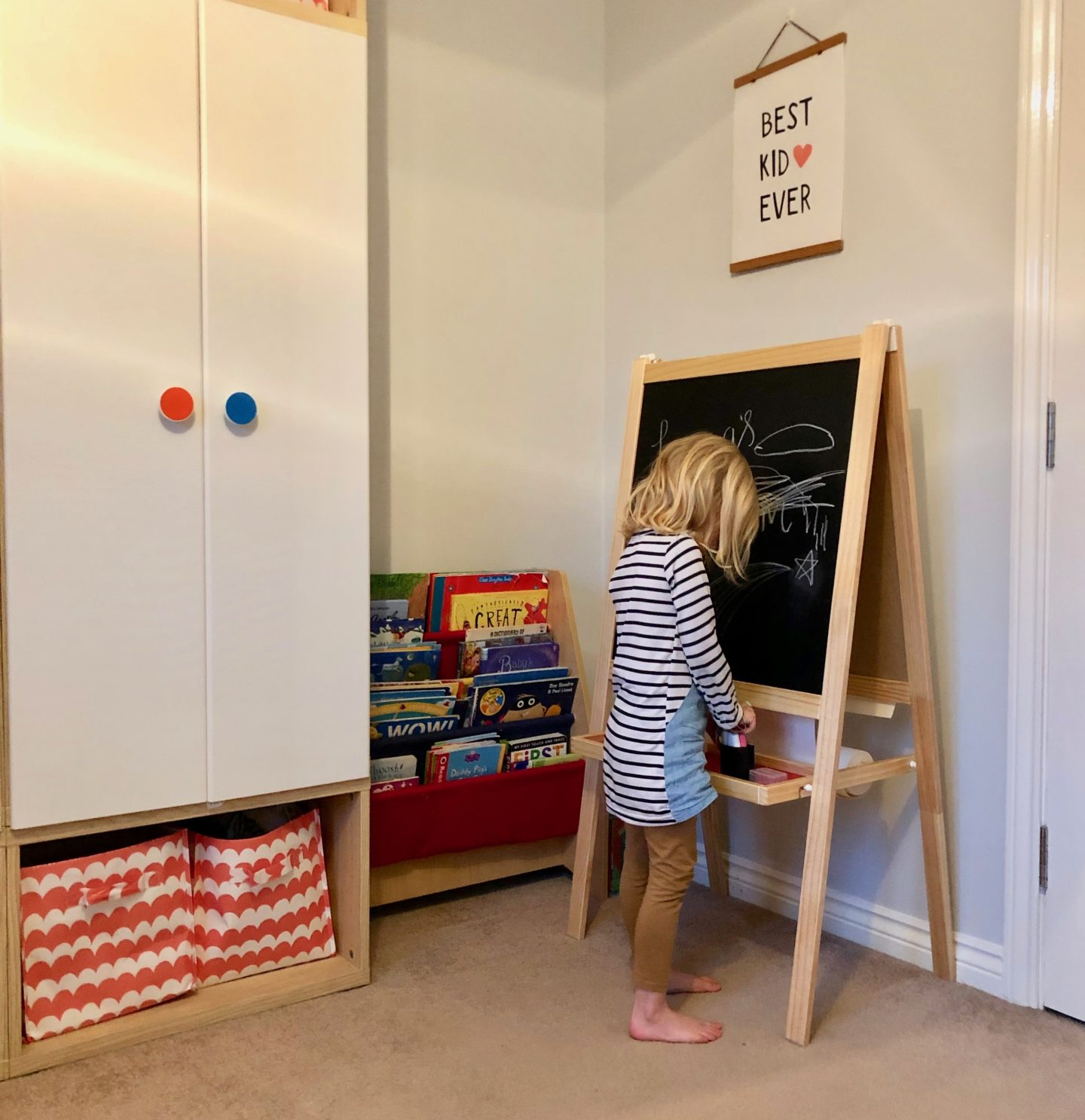 AD: Creating an after school wind down area with IKEA. IKEA storage solutions for children's rooms