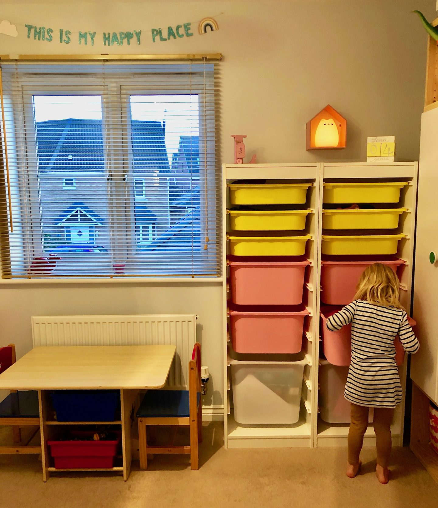 AD: Creating an after school wind down area with IKEA. IKEA storage solutions for children's rooms.