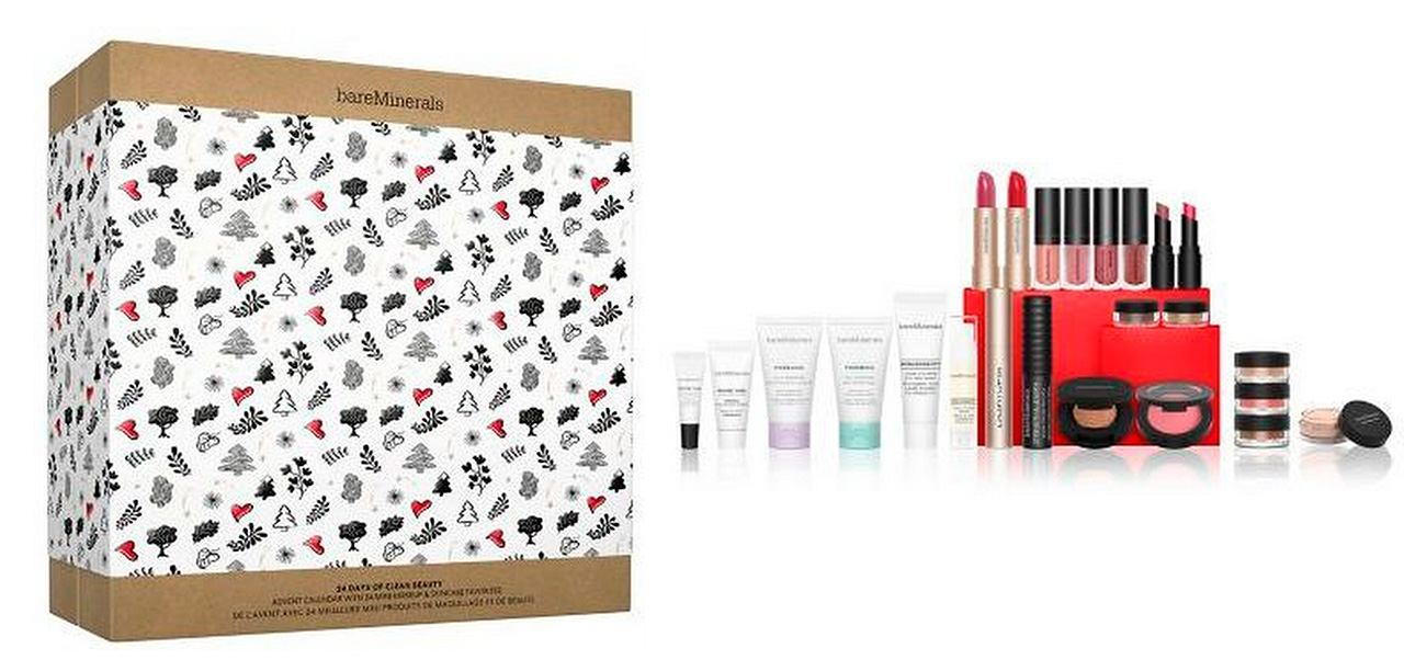 cruelty free beauty advent calendars 2020 - Bare Minerals