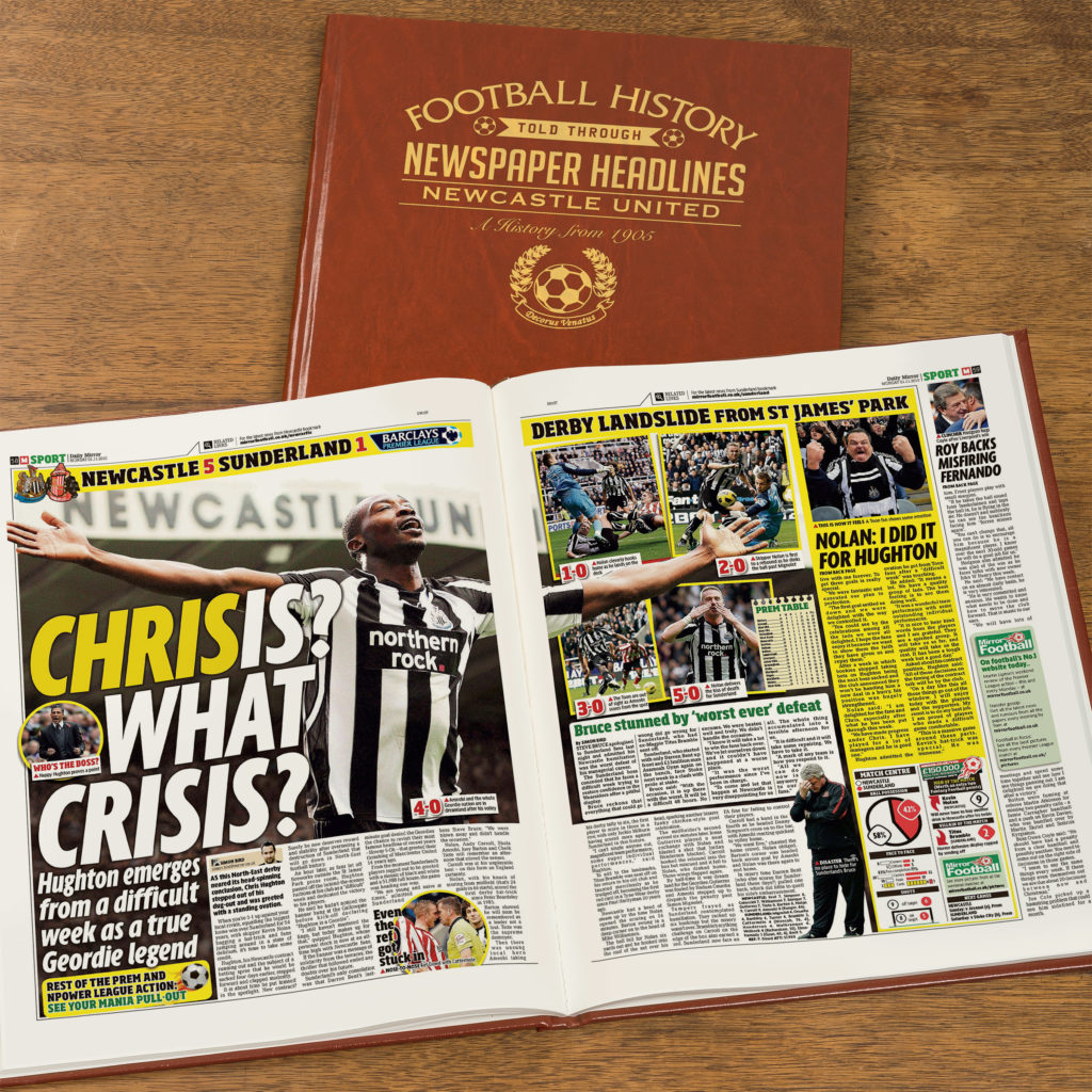 Inspiration for Christmas gifts for children - 10 things under £50 that I'm getting my 8 year old son and 5 year old daughter for Christmas this year. Personalised Newcastle United football book.