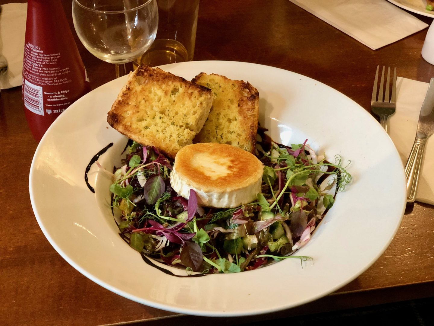AD: Landal Sandybrook Peak District family review - a relaxing autumnal long weekend break. Salad at the Coach House Bar and Restaurant.