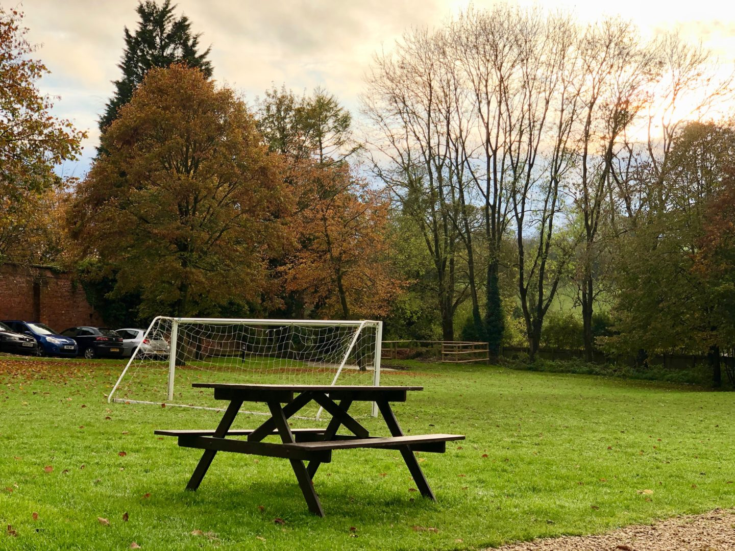 AD: Landal Sandybrook Peak District family review - a relaxing autumnal long weekend break. The football pitch at Landal Sandybrook.