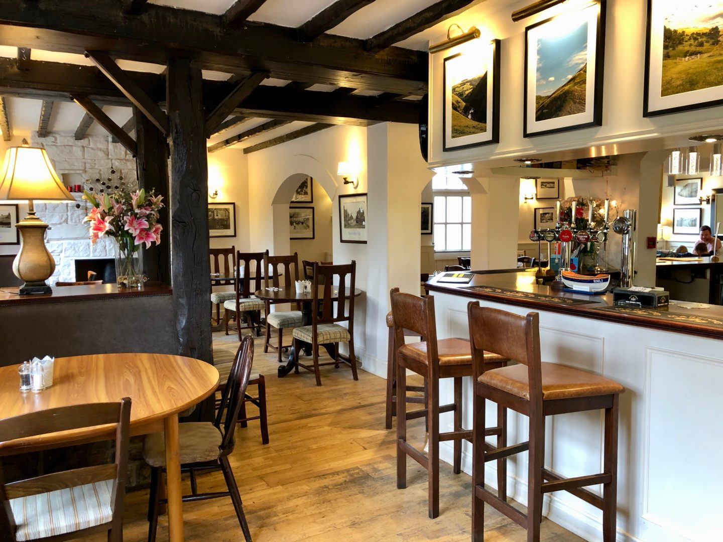 AD: Landal Sandybrook Peak District family review - a relaxing autumnal long weekend break. The Rose and Crown, Mayfield, Peak District.