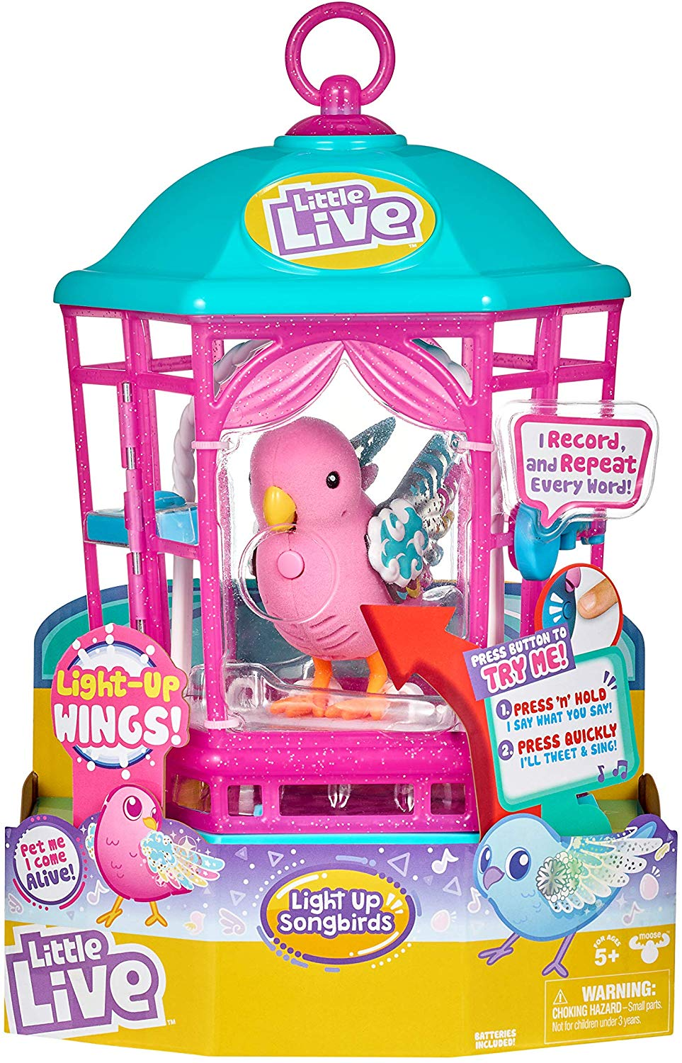 Inspiration for Christmas gifts for children - 10 things under £50 that I'm getting my 8 year old son and 5 year old daughter for Christmas this year. Little live light up bird.
