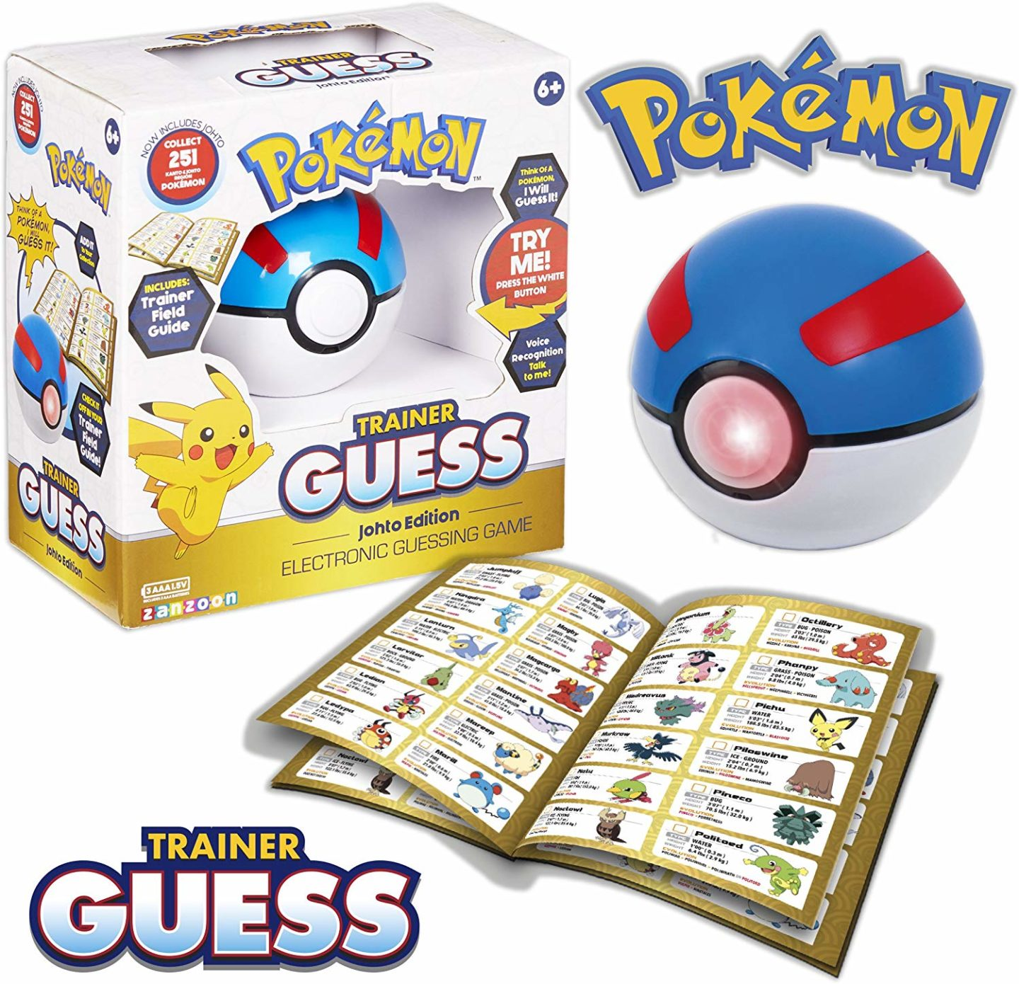 10 Pokemon gifts for kids you can buy on Amazon. Pokemon Trainer guess game.