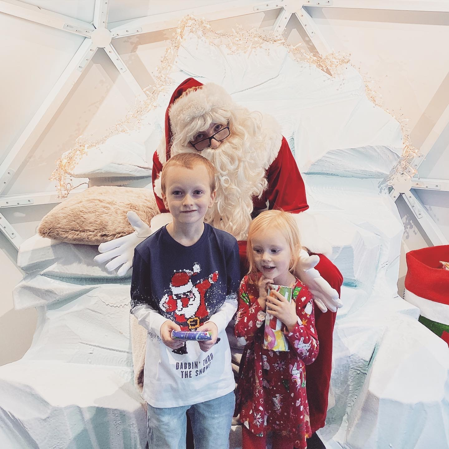 Letter to my first born on his 8th birthday - kids with santa