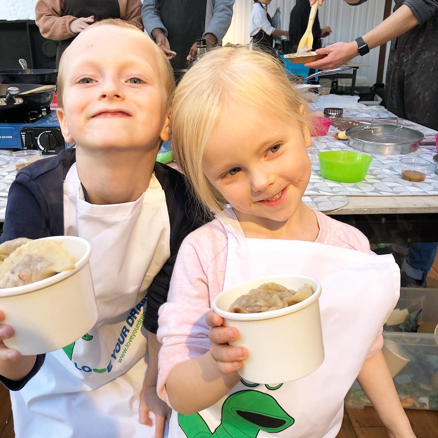 Letter to my first born on his 8th birthday - kids at a cooking class