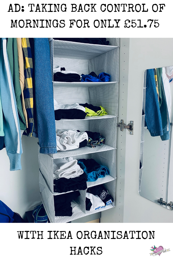 Taking back control of mornings for only £51.75 with IKEA organisation hacks. We transform our drawers, wardrobes and bathroom with a few items from IKEA.
