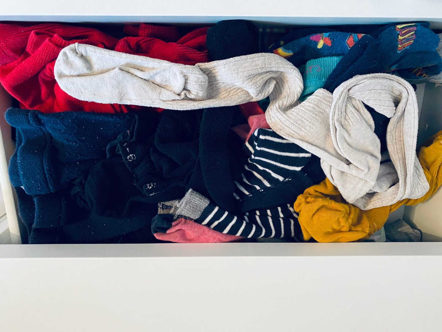 AD: Taking back control of mornings for only £51.75 with IKEA organisation hacks. Kid's drawer pre organisation.