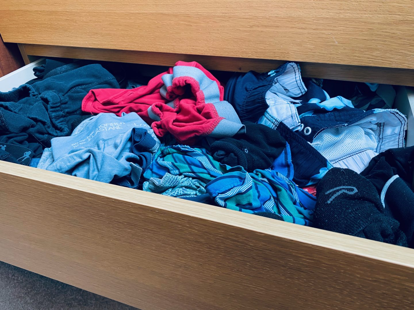 AD: Taking back control of mornings for only £51.75 with IKEA organisation hacks. Adult's drawer pre organisation.