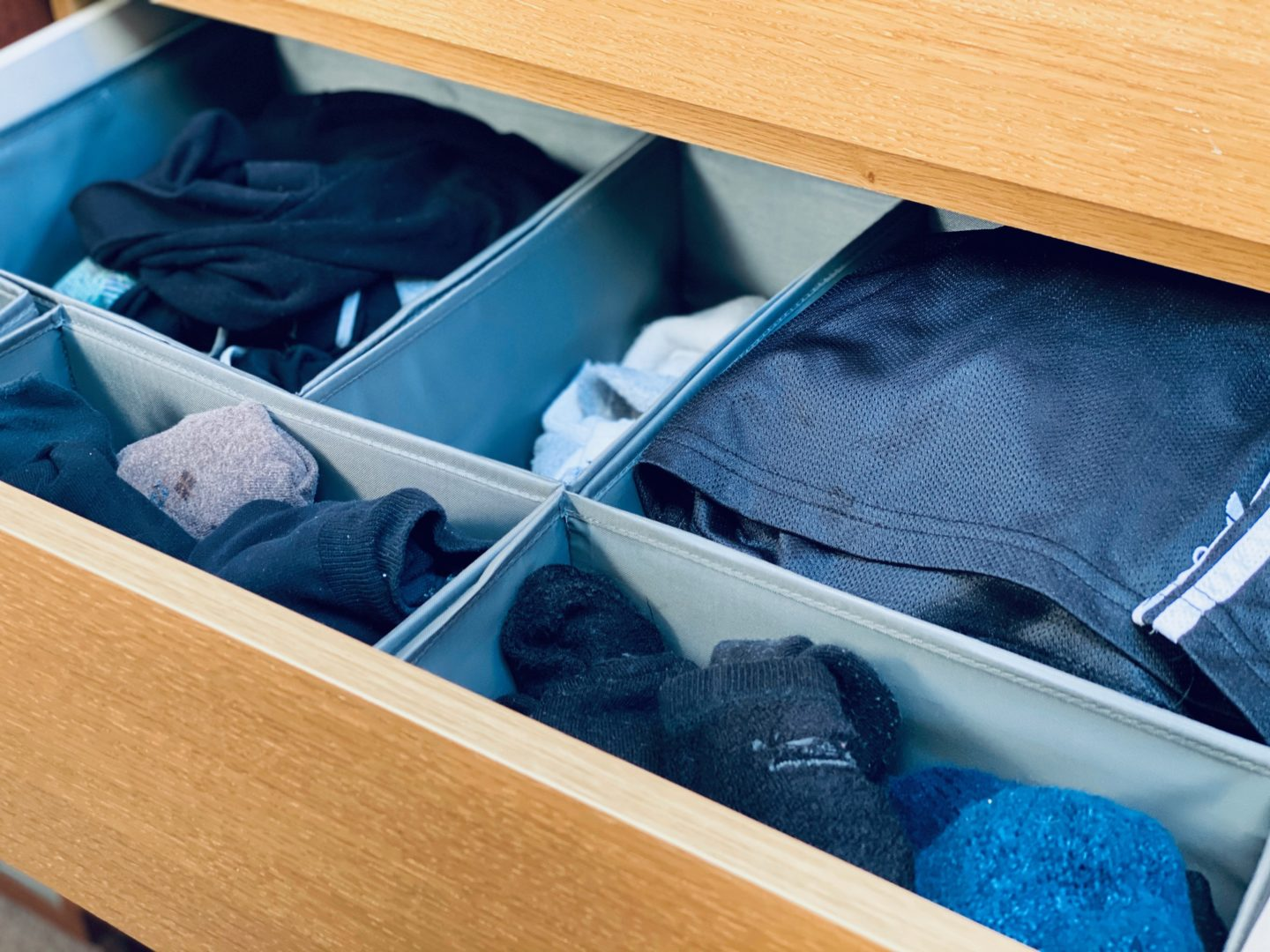 AD: Taking back control of mornings for only £51.75 with IKEA organisation hacks. Adult's drawer post organisation.