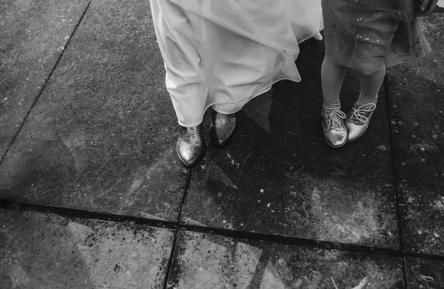 Letters to Lena - on your 5th birthday: Mother and daughter's shoes on Mother's wedding day.