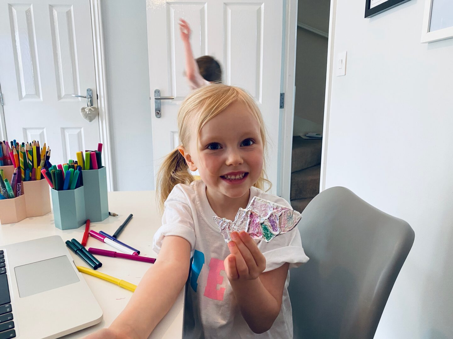 AD: Finding free arts and culture activities for kids to do at home with Fantastic for Families - Lena's fish