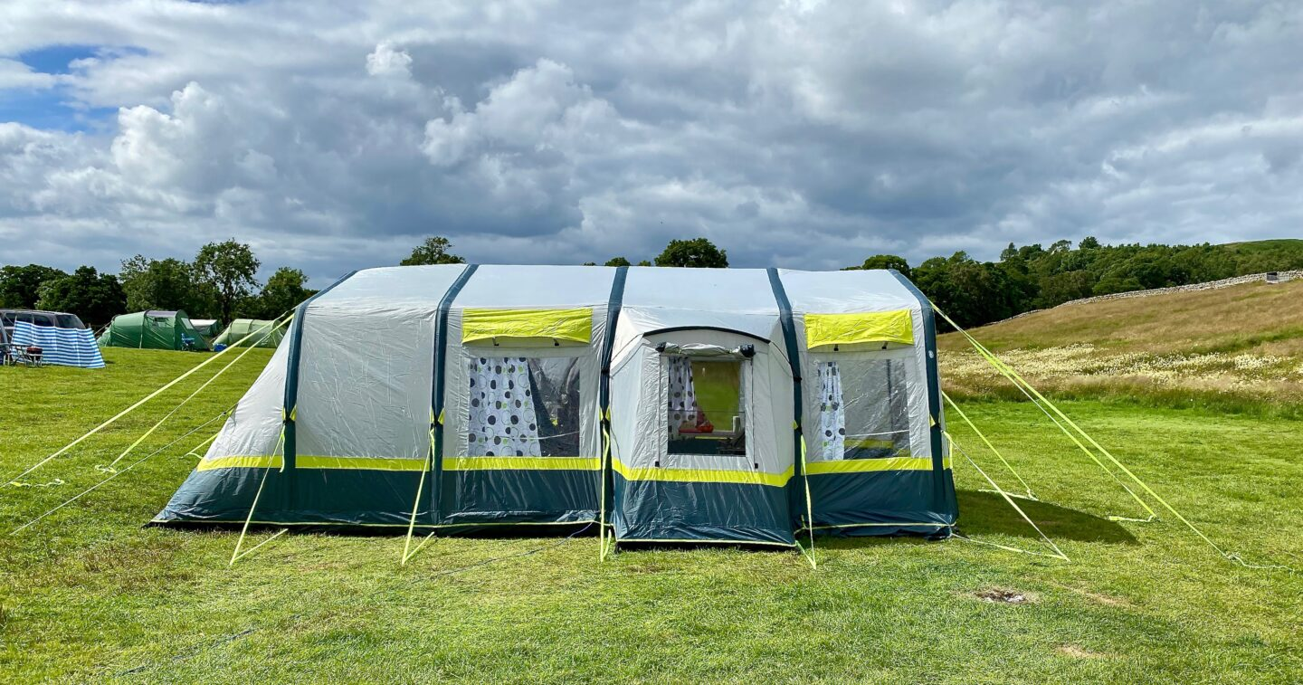 The OLPRO Home tent - a side view