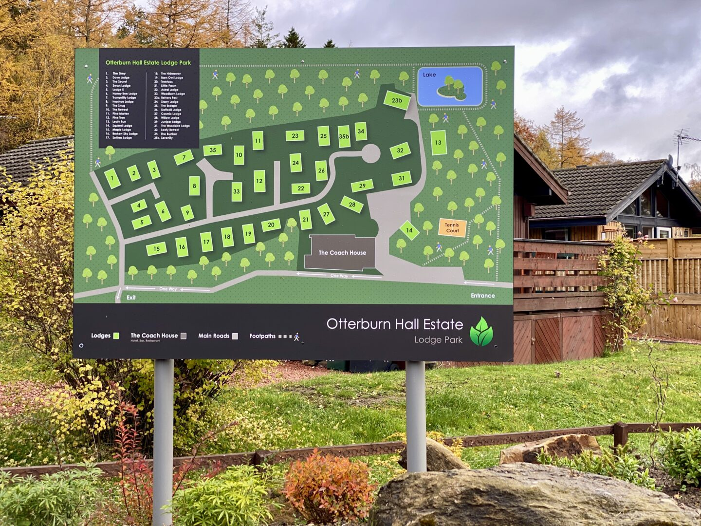 Otterburn Hall Estate map