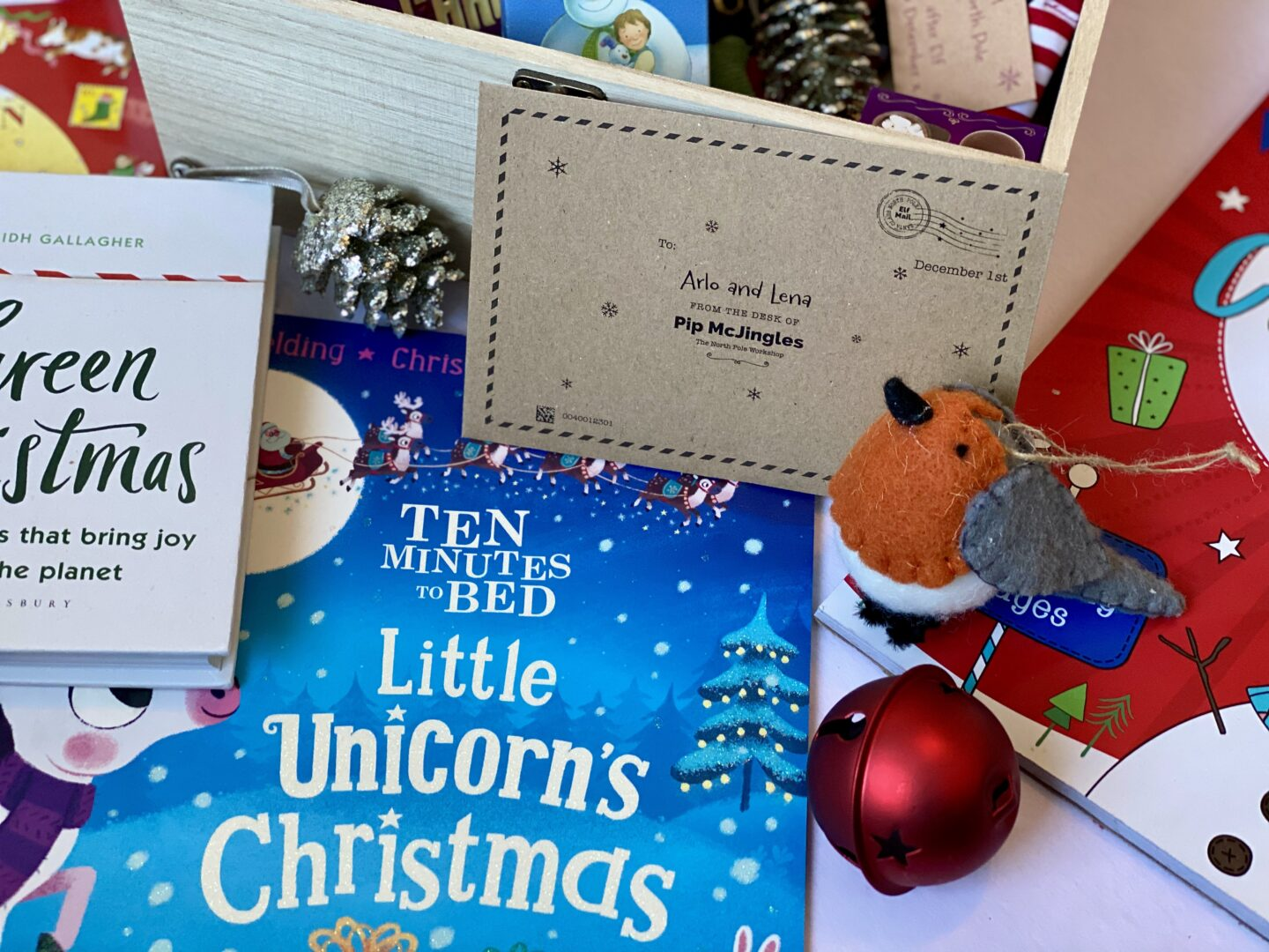 Some Christmas items including an advent letter