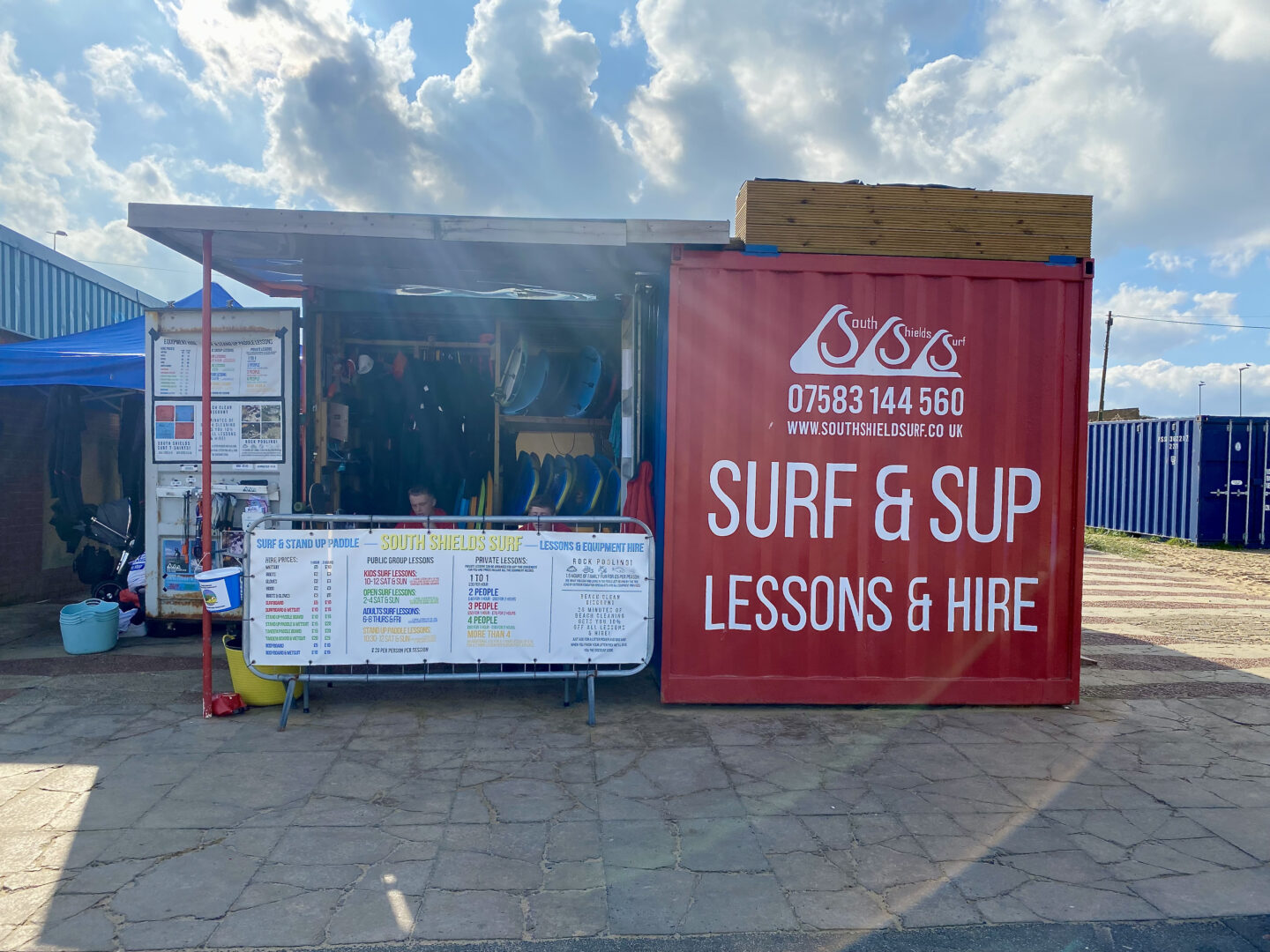 South Shields Surf shipping container stall